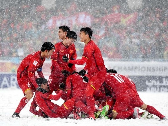 NU23 Vietnam team entertain audience with fantastic performance in the final match against Uzbekistan (Source: AFC)