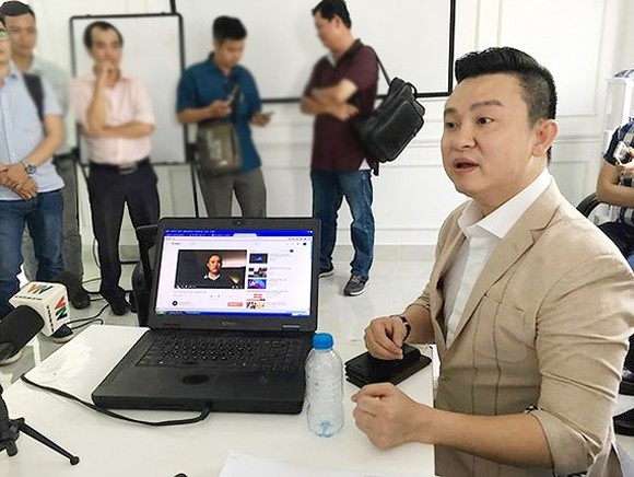 Diep Khac Cuong denies the rumor that he was co-founder of Modern Tech Company ( photo SGGP)