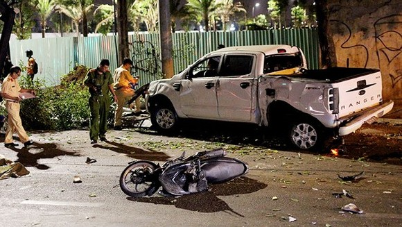 Functional forces at the scene of the accident. (Picture: DAN NGUYEN)