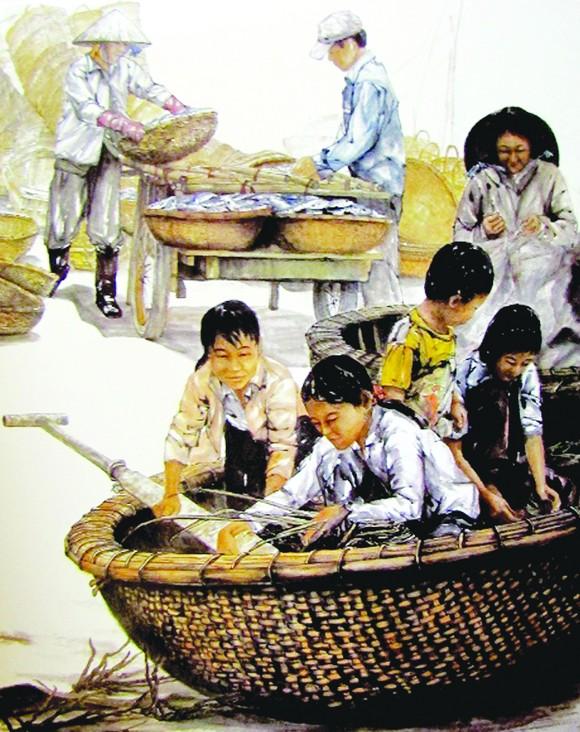 Họa sĩ Trần Văn Hải: Dấu ấn riêng từ tranh thủy mặc ảnh 1