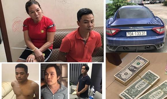 被扣留的涉案嫌犯與物證。(圖源:PLO)