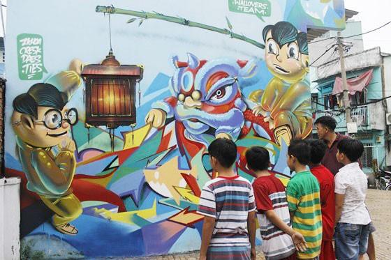 Khi người trẻ... đói sân chơi Graffiti ảnh 7