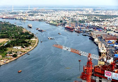 The port system along the Saigon River (Photo: SGGP)