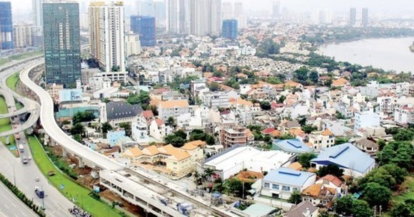 The above ground stretch of Ben Thanh-Suoi Tien metro line in HCMC (Photo: SGGP)