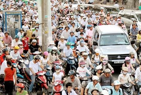 A traffic jam in HCMC (Photo: SGGP)