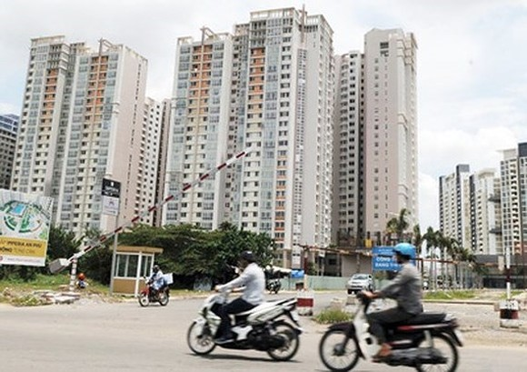 A new apartment block in HCMC (Photo: SGGP)