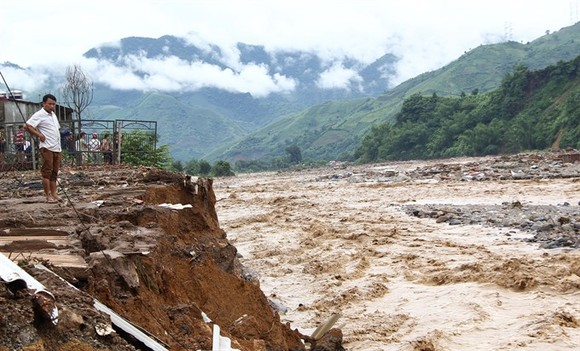 Floods in August, 2017 washed away people's houses and assets in Muong La District, Northern highland province of Son La. (Photo: VNA/VNS)