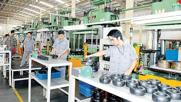 Rubber component production at Thong Nhat Rubber Joint Stock Company (Photo: SGGP)