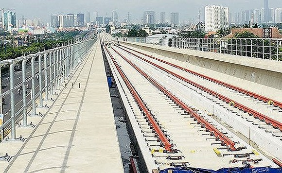 The first metro line in HCMC, Ben Thanh-Suoi Tien, is expected to be built by 2020
