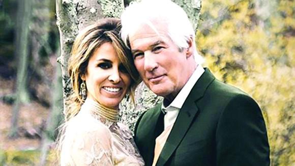 Tài tử Richard Gere cưới vợ ở tuổi 68