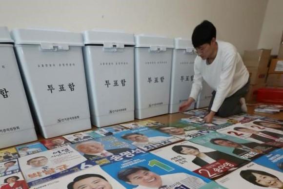 Hàn Quốc bỏ phiếu bầu cử địa phương sớm ảnh 1