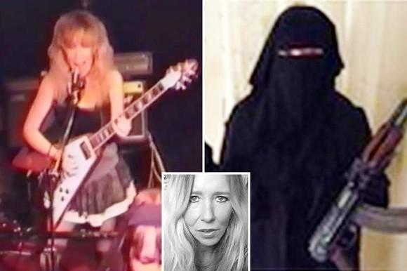 """""""Góa phụ trắng"""" Sally Jones, từ ca sĩ punk rock ở Anh trờ thành nữ khủng bố bị truy nã gắt gao nhất thế giới sau khi gia nhập IS năm 2014. Ảnh TWITTER"""