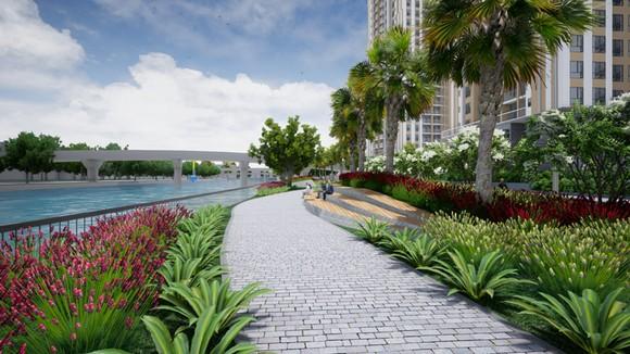 Gem Riverside có công viên dọc bờ sông dài hơn 1km