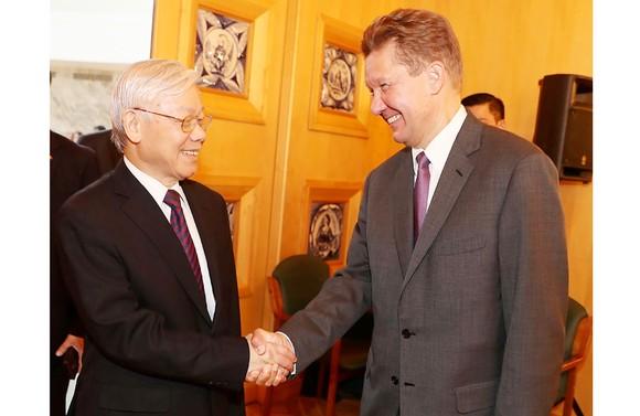 Tổng Bí thư Nguyễn Phú Trọng tiếp Chủ tịch Hội đồng Điều hành Tập đoàn Gazprom Sona Ovezova