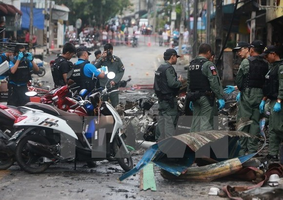 he scene of the bomb attack in Yala (Source: AFP/VNA)