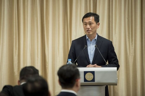 Singaporean Education Minister Ong Ye Kung ​speaks at the launch of the financial services industry transformation on Oct 30, 2017. (Photo: MAS)