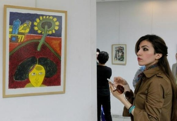 The exhibition at the Hiwar gallery -- one of the last to remain open in the city -- includes 24 Picasso lithographs. — AFP Photo