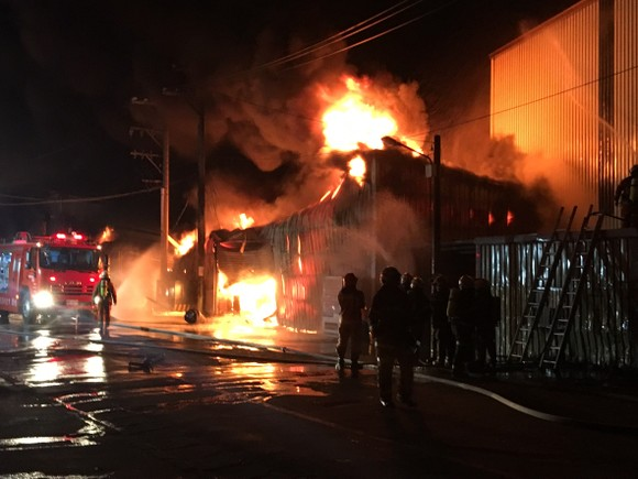 A massive fire that broke out in an illegally constructed dormitory claimed the lives of 6 Vietnamese workers and injured 5