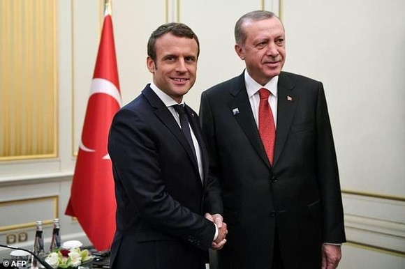 French President Emmanuel Macron and Turkish President Recep Tayyip Erdogan previously met at a NATO summit in Brussels in May last year. — AFP Photo
