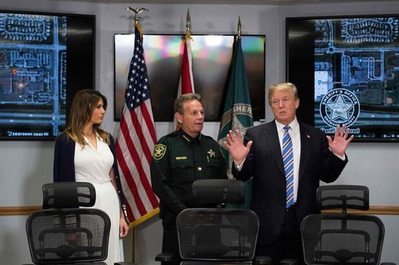 Trump visits Florida shooting survivors, FBI admits it missed tip