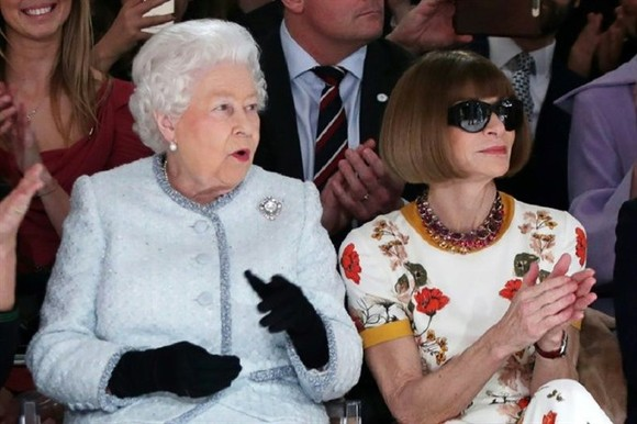 Britain's Queen makes surprise visit to London Fashion Week