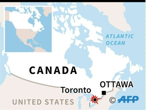 Van runs over Toronto pedestrians, up to 10 dead: police