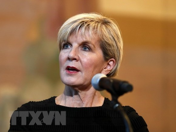 Australian Minister of Foreign Affairs Julie Bishop (Source: Xinhua)