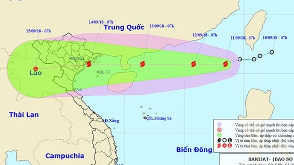 Tropical low-pressure strengthens into 5th typhoon