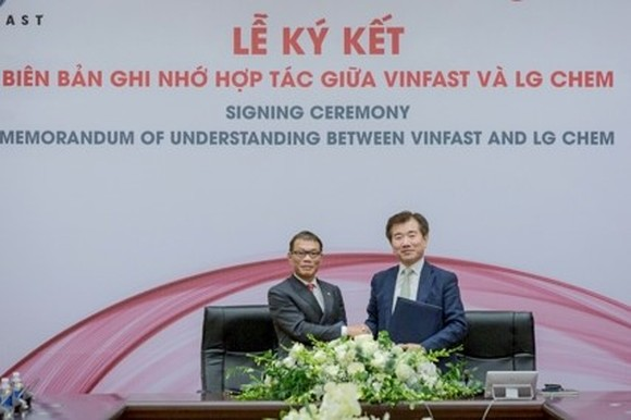 Vietnam's VinFast signs MOU with LG Chem on batteries