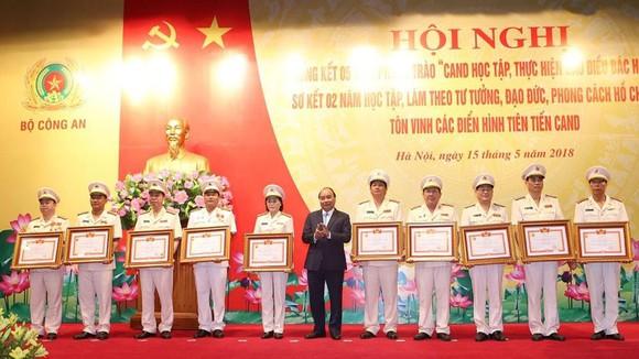 Thủ tướng Nguyễn Xuân Phúc dự Hội nghị tổng kết của Bộ Công an. Ảnh: Bộ Công an
