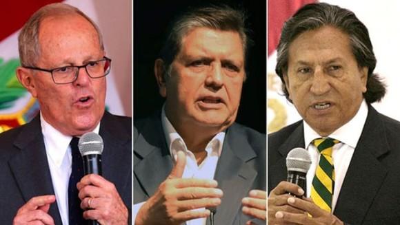 Các cựu Tổng thống Pedro: Pablo Kuczynski, Alan GarcÍa và Alejandro Toledo. Ảnh: Infobae