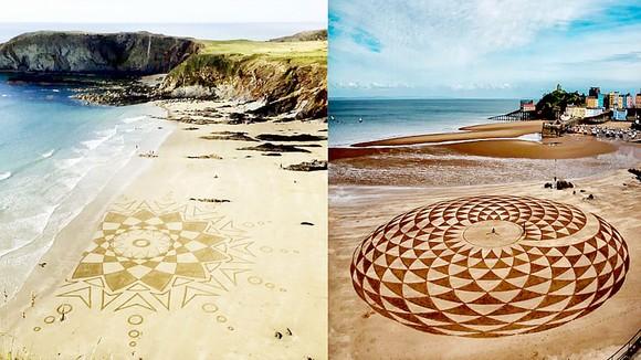 Tạo hoa văn trên cát