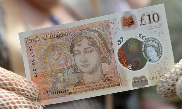 Đồng 10 bảng mới. (Nguồn: PA)