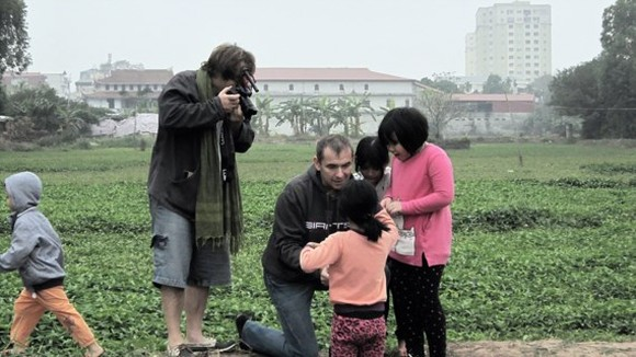 Former French Ambassador to Vietnam Jean Noel Poirier and his brother Henri Luis Poirier are filming the documentary.