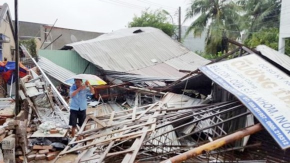 Typhoon Damrey is the strongest typhoon in southern Vietnam in 16 years.  (Photo: Sggp)