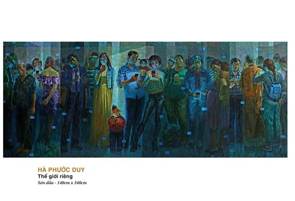 A painting by Ha Phuoc Duy