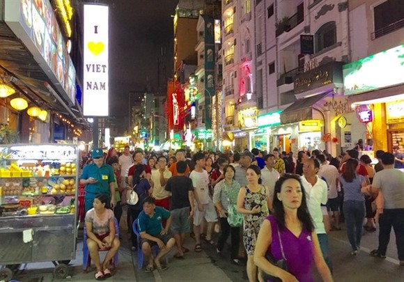 Bui Vien Walking Street in HCM City's District 1 has become a popular spot for locals and international tourists. (Photo: VNA)
