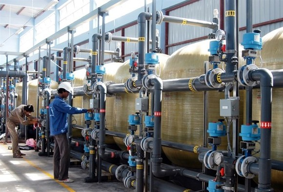 Clean water treatment system being operated in HCM City's C​an Gi​o district. (Photo: VNA)