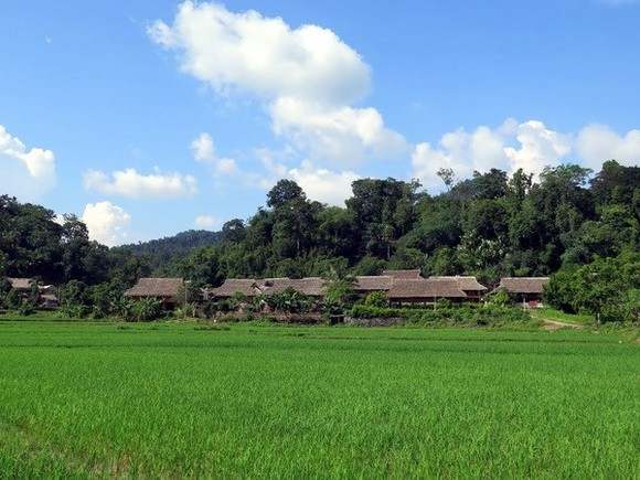 Culture - tourism village in Tan Trao commune (Photo VNA)