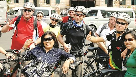 International tourists visit HCM City.  (Photo: Sggp)