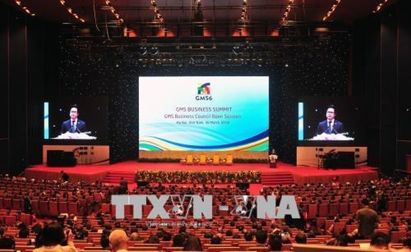 VCCI President Vu Tien Loc delivers opening remarks at the GMS Business Summit (Photo: VNA)