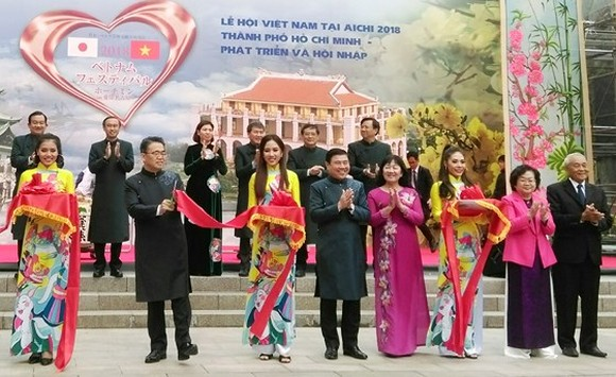 Vietnamese festival opens in Japan's Aichi Prefecture. (Photo: Sggp)
