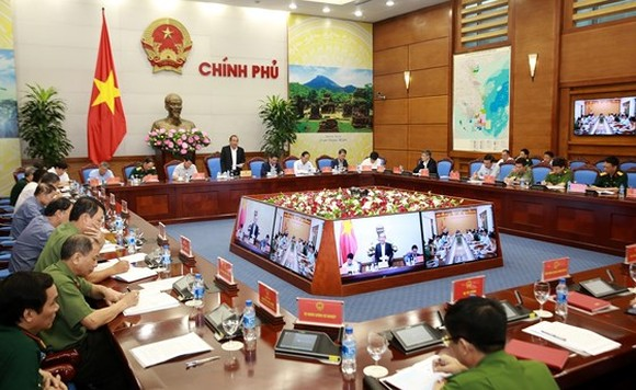 Deputy PM Truong Hoa Binh speaks at an online conference on aviation security on April 24. (Photo: Sggp)
