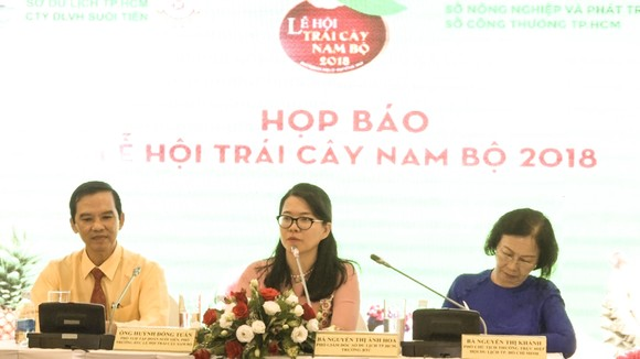 At the press conference of the 14th Southern Fruit Festival  (Photo: Dinh Du)