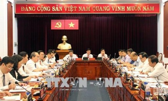 At the working session (Source: VNA)