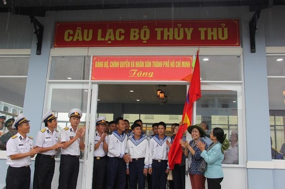 At the opening ceremony of the clubhouse