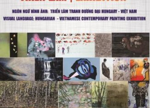 Hungarian-Vietnamese contemporary painting exhibition held in Hanoi, HCMC