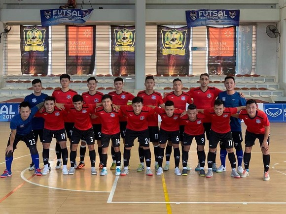 Đội hình thi đấu của CLB Thái Sơn Nam. Ảnh: ANH TRẦN