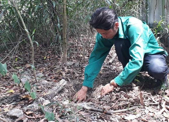 Khu vực được cho là chôn xác thai nhi trong khuôn viên Nhà máy xử lý rác thải TP Cà Mau