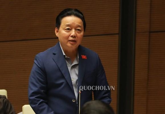 Bộ trưởng Bộ TN-MT Trần Hồng Hà, ảnh quochoi.vn
